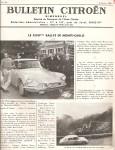 bulletin Citroen 1956
